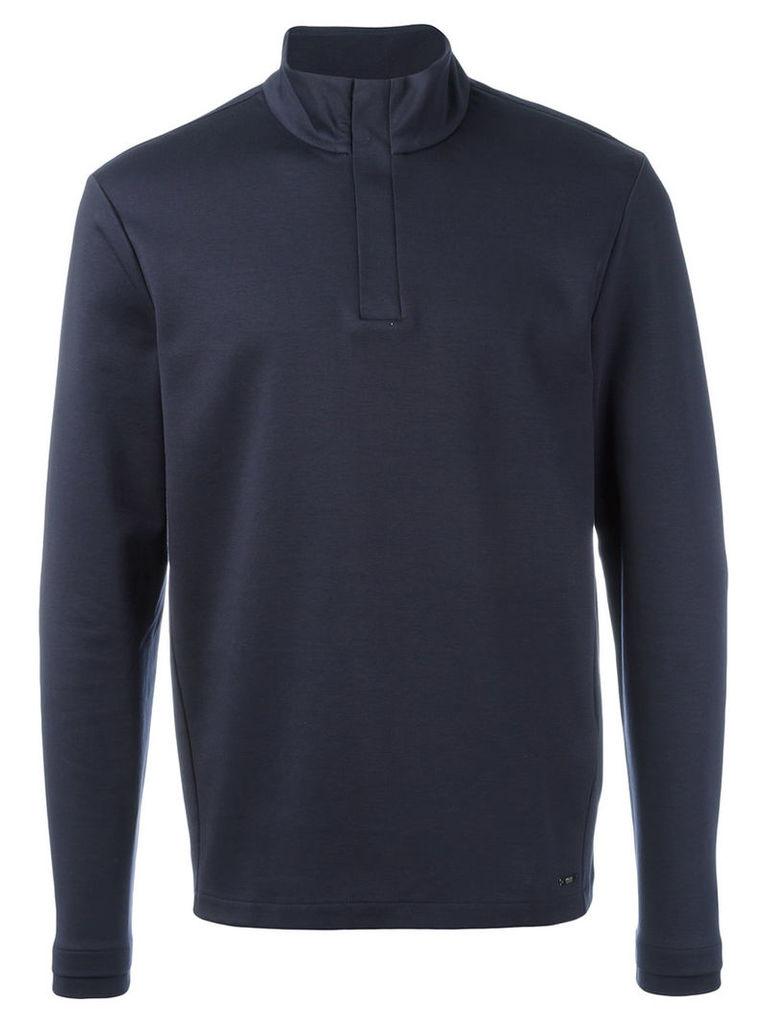 Boss Hugo Boss henley sweatshirt, Men's, Size: Medium, Blue