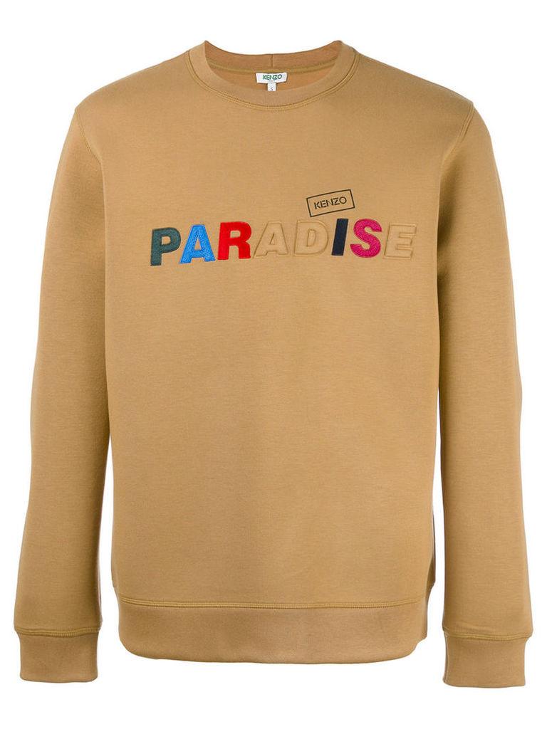 Kenzo paradise slogan sweatshirt, Men's, Size: Large, Brown