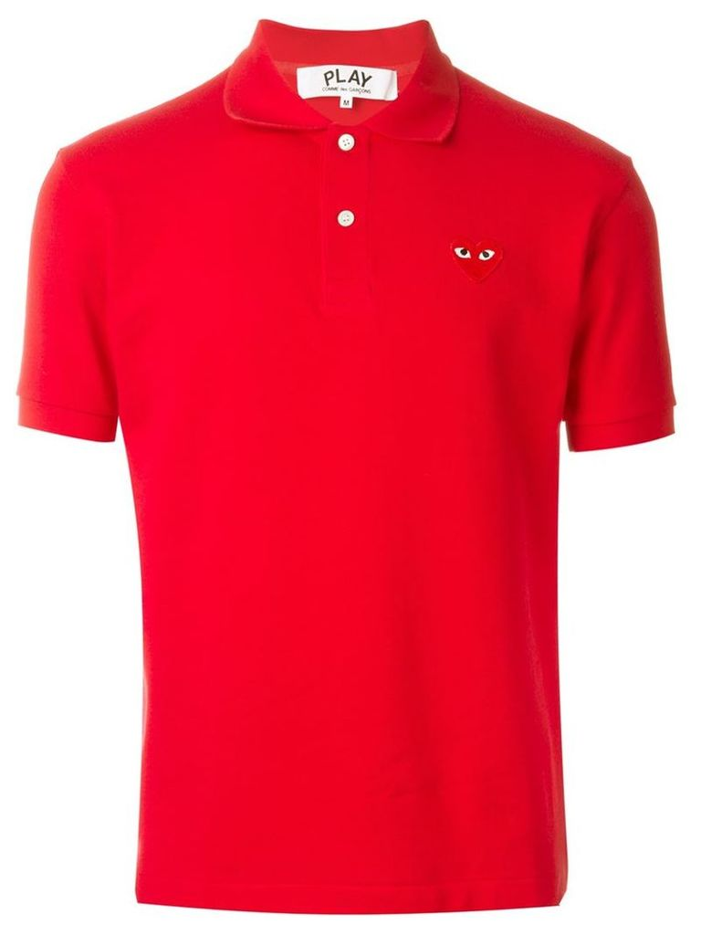 Comme Des Garçons Play embroidered heart polo shirt, Men's, Size: XL, Red