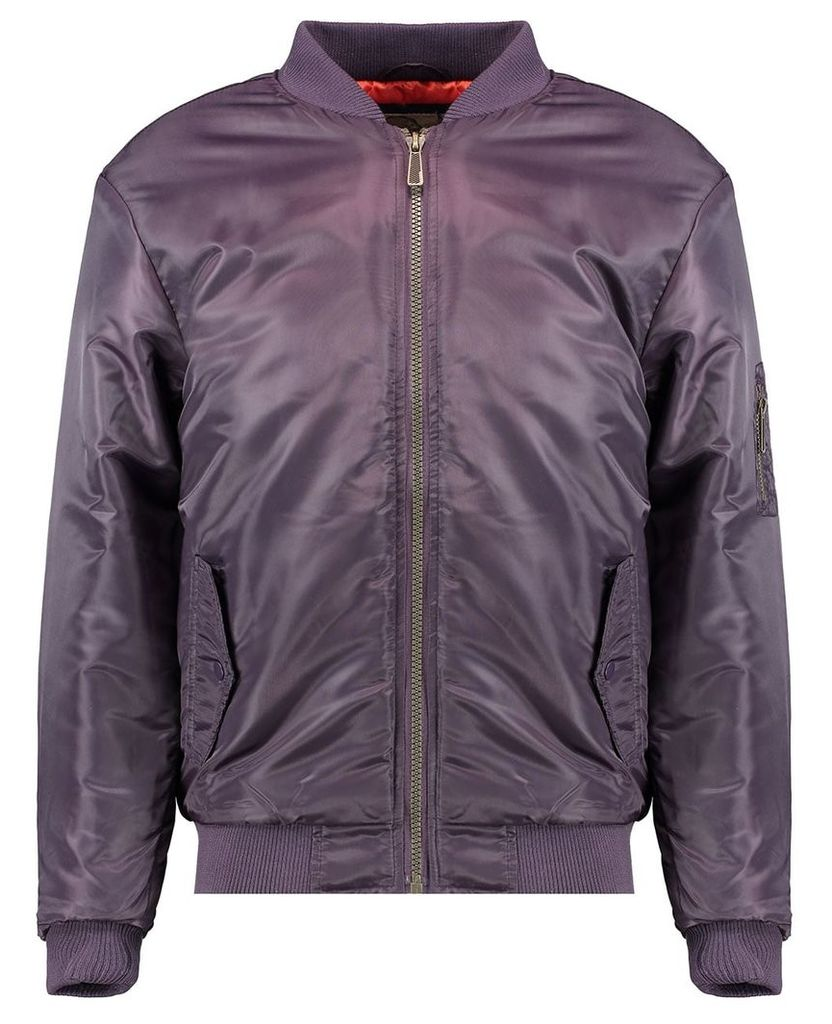 Men's Blue Inc Purple Bomber Jacket, Purple