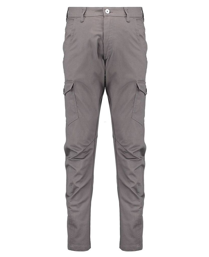 Men's Blue Inc Grey Multi Pocketed Industrialized Cargo Twill, Grey