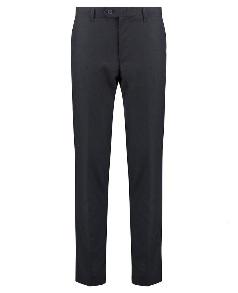 Men's Blue Inc Navy Blue Slim Fit Formal Trouser, Blue