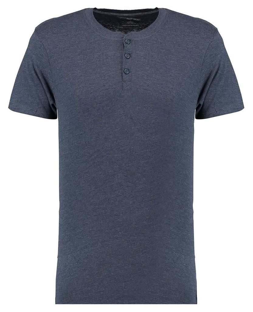 Men's Blue Inc Blue Everyday Casual And Comfortable Grandad T-shirt, Blue