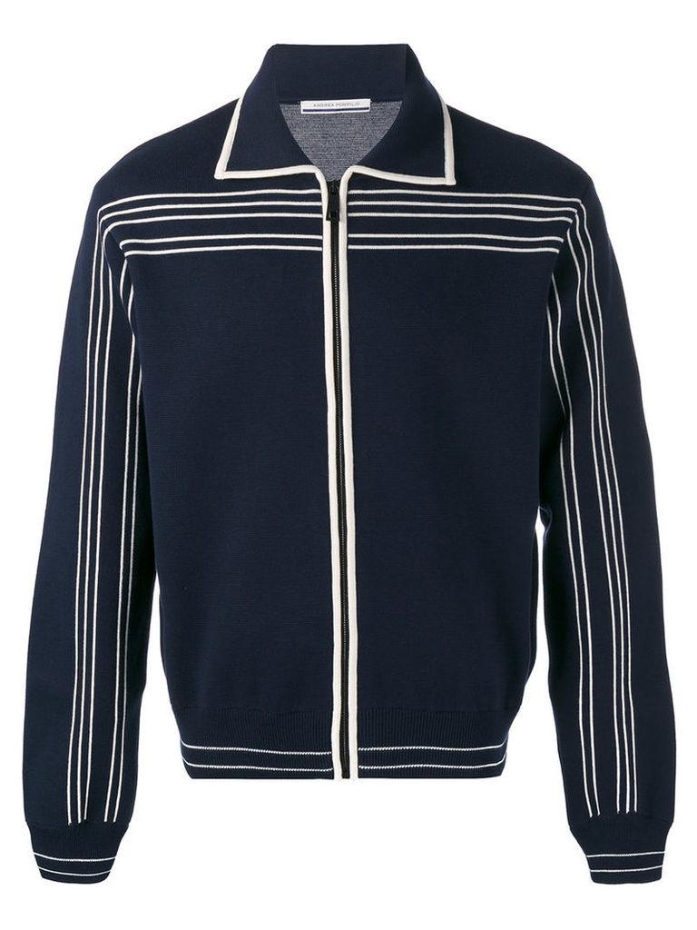 Andrea Pompilio Vangog cardigan, Men's, Size: 50, Blue