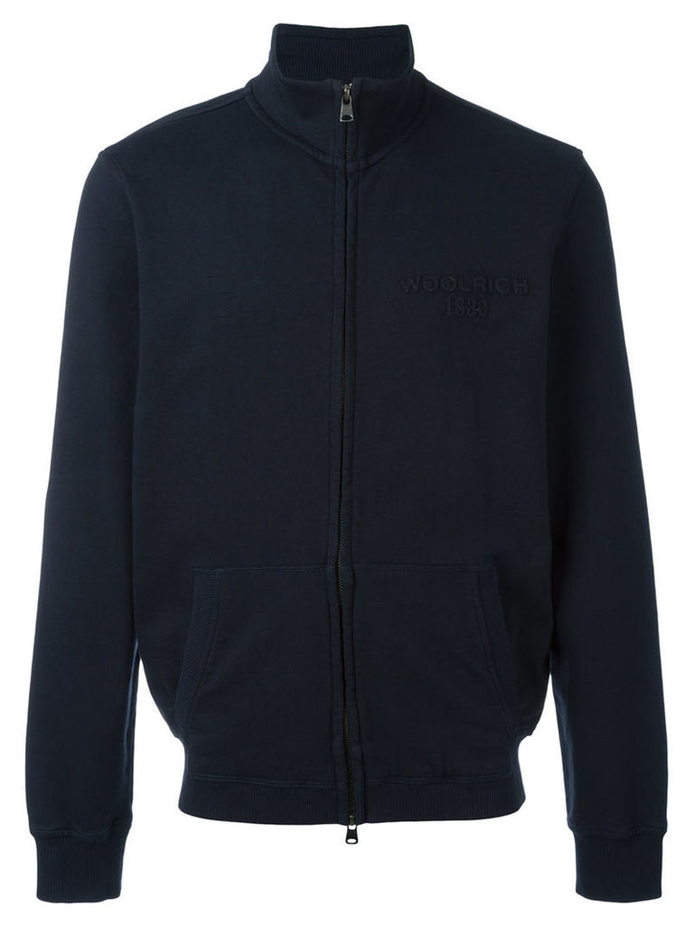 Woolrich zip track jacket, Men's, Size: XXL, Blue