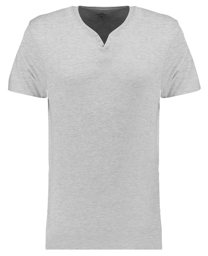 Men's Blue Inc Cream Everyday Basic Notch Neck T-shirt, Cream