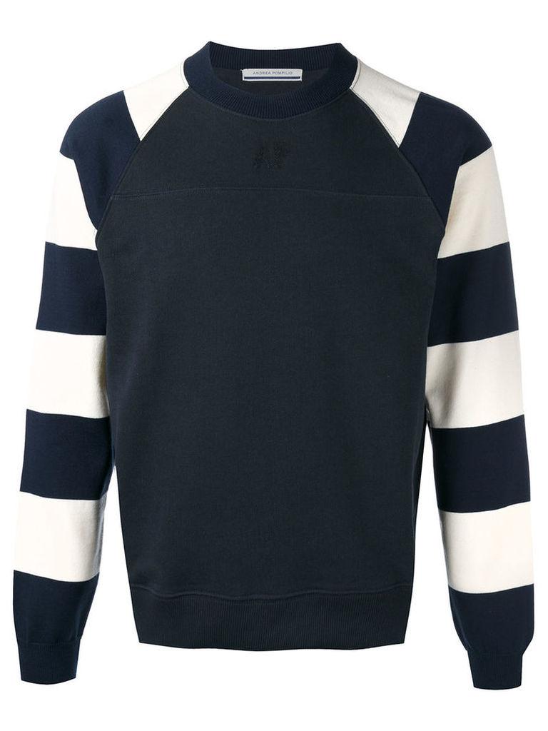 Andrea Pompilio striped sleeves jumper, Men's, Size: 48, Black