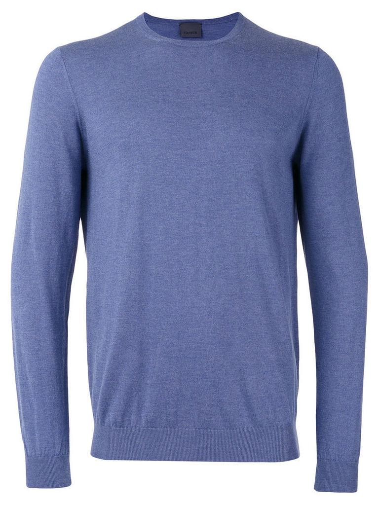 Laneus crew-neck jumper, Men's, Size: 54, Blue