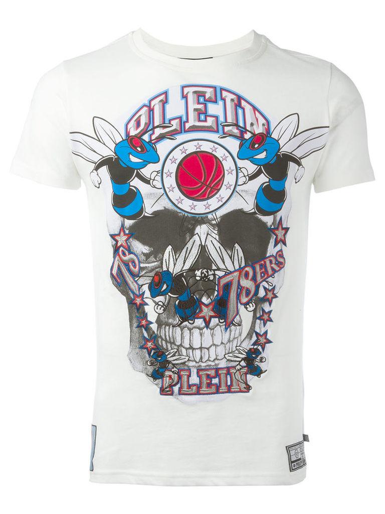 Philipp Plein skull T-shirt, Men's, Size: XL, White