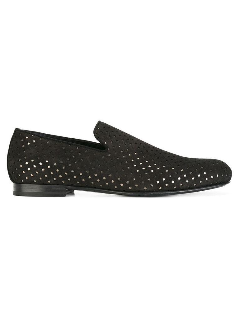 Jimmy Choo star detail slipper loafers, Men's, Size: 42.5, Black