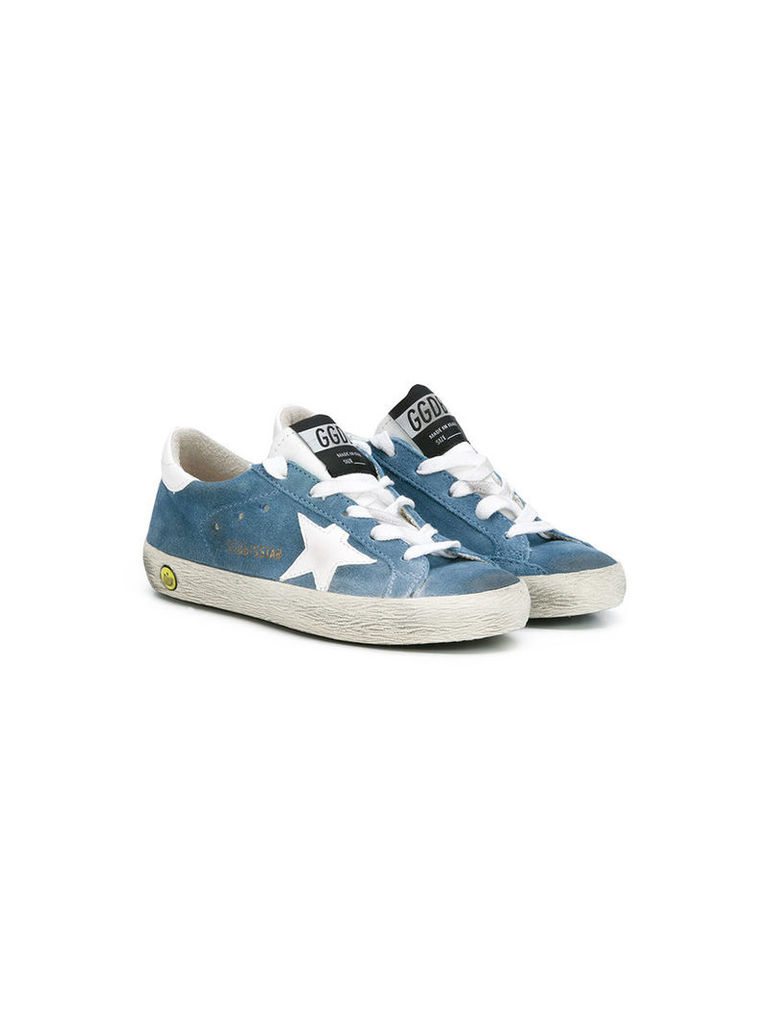 Golden Goose Deluxe Brand Kids star lace-up sneakers, Boy's, Size: 33, Blue
