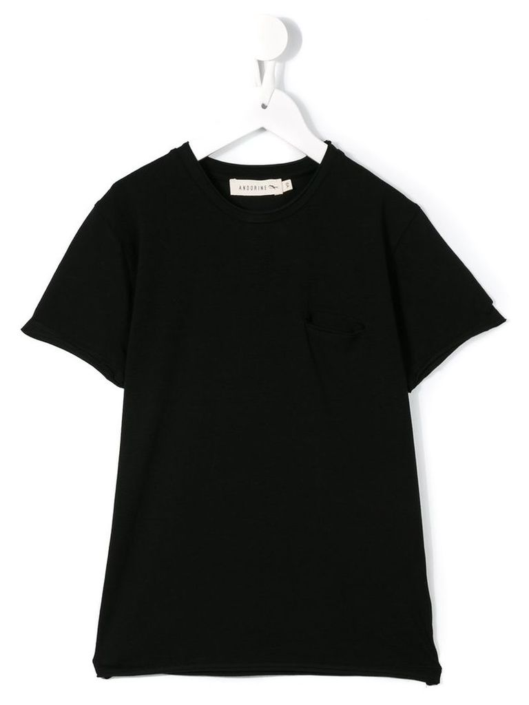 Andorine pocket T-shirt, Boy's, Size: 6 yrs, Black