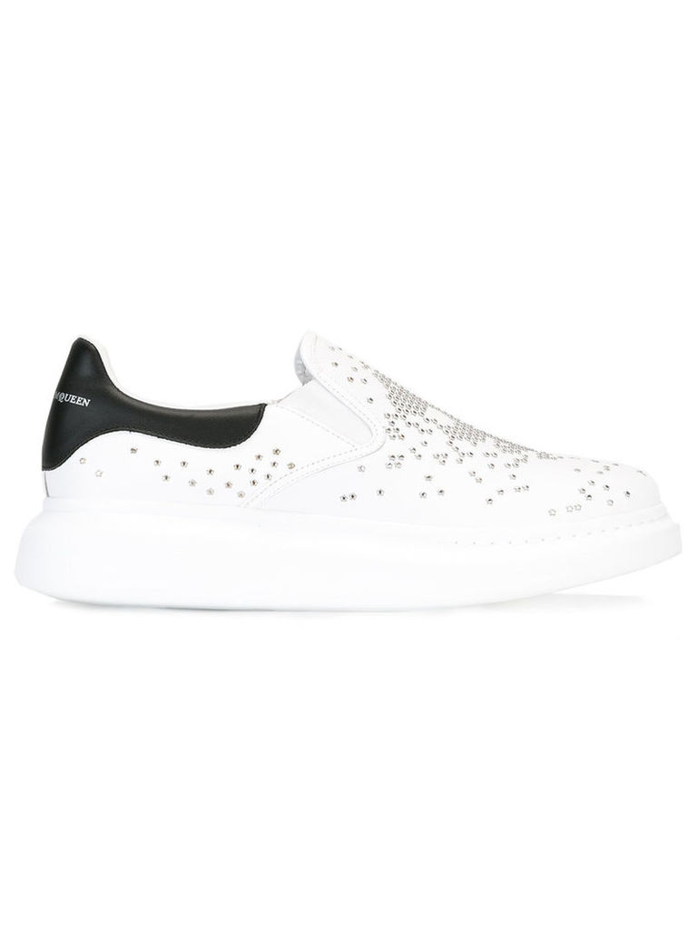 Alexander McQueen crystal embellished trainers, Men's, Size: 41.5, White