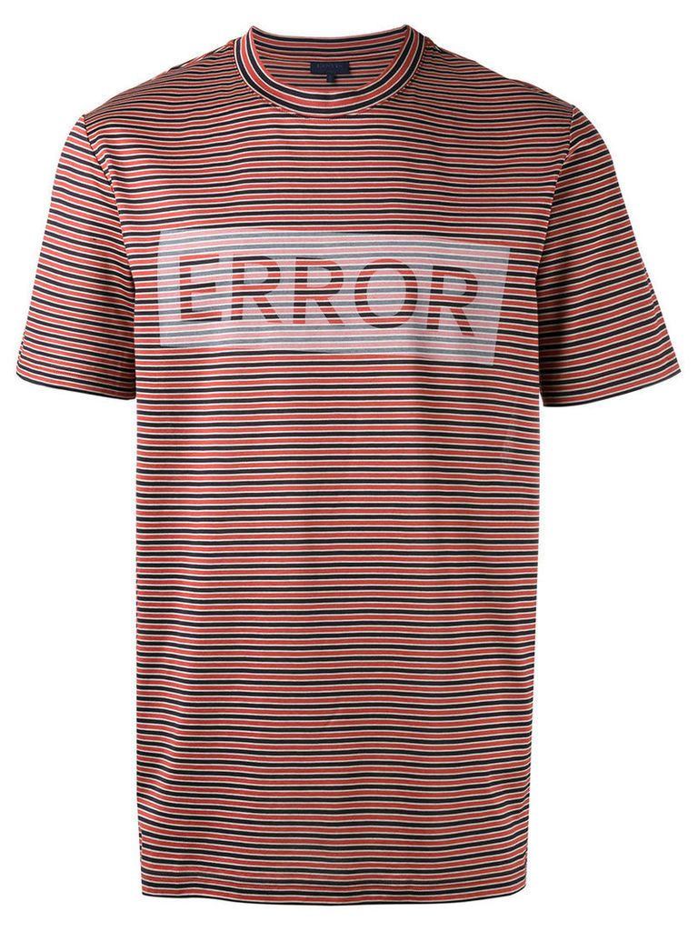 Lanvin striped panel T-shirt, Men's, Size: Small, Black