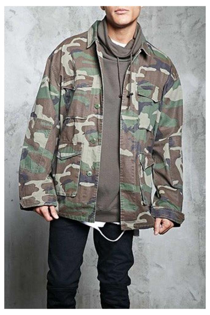 Camo Print Army Jacket