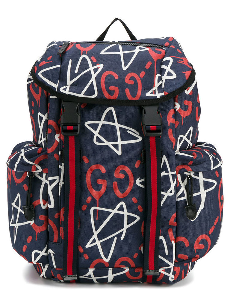 Gucci GucciGhost logo backpack, Blue