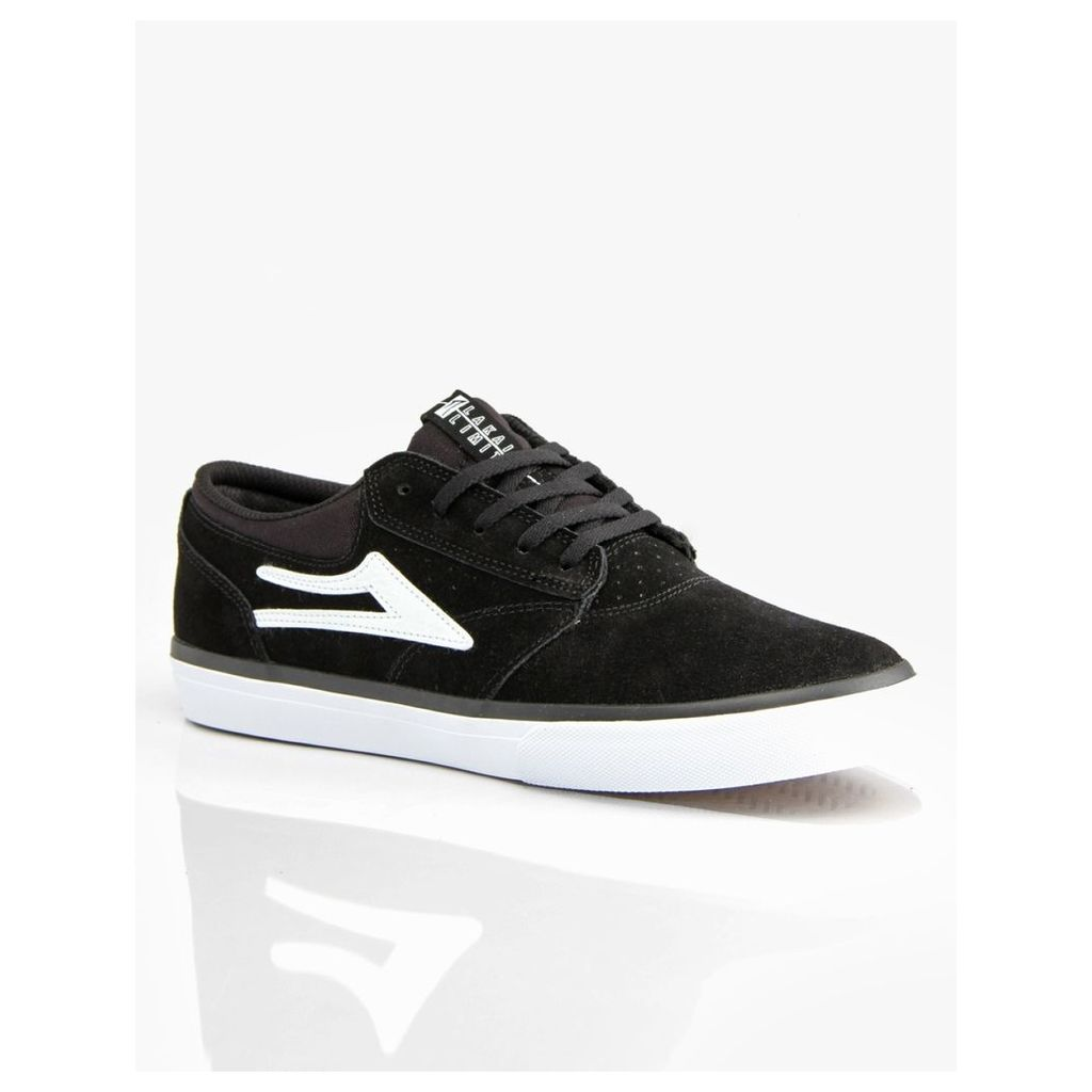 Lakai Griffin Skate Shoes - Black/White Suede (UK 10)