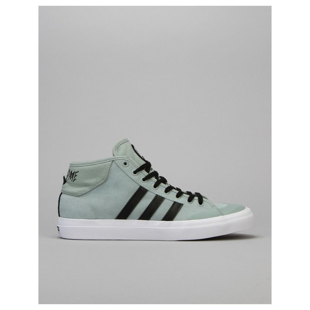 Adidas x Welcome Matchcourt Mid Skate Shoes - Mist Slate/Black/White (UK 4)