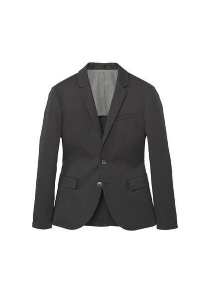 Slim-fit cotton suit blazer