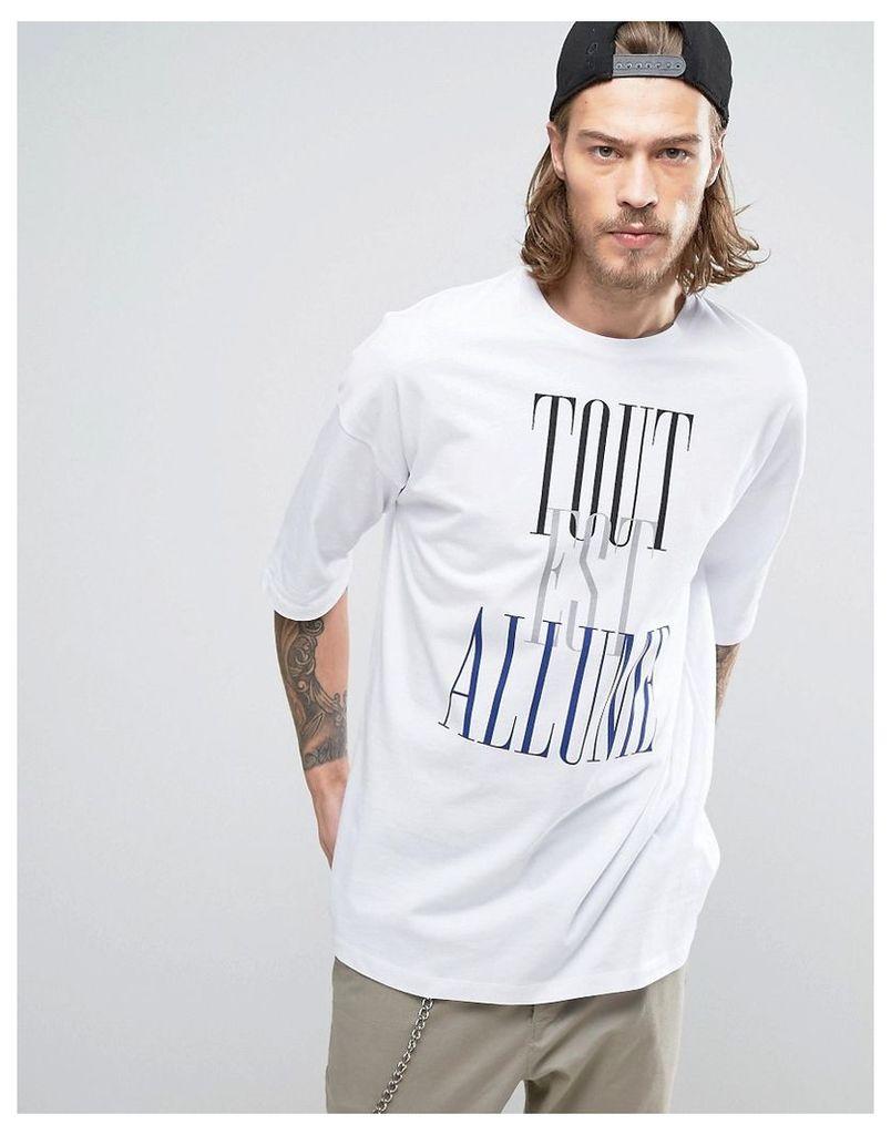 ASOS Oversized T-Shirt With Typo Print - White