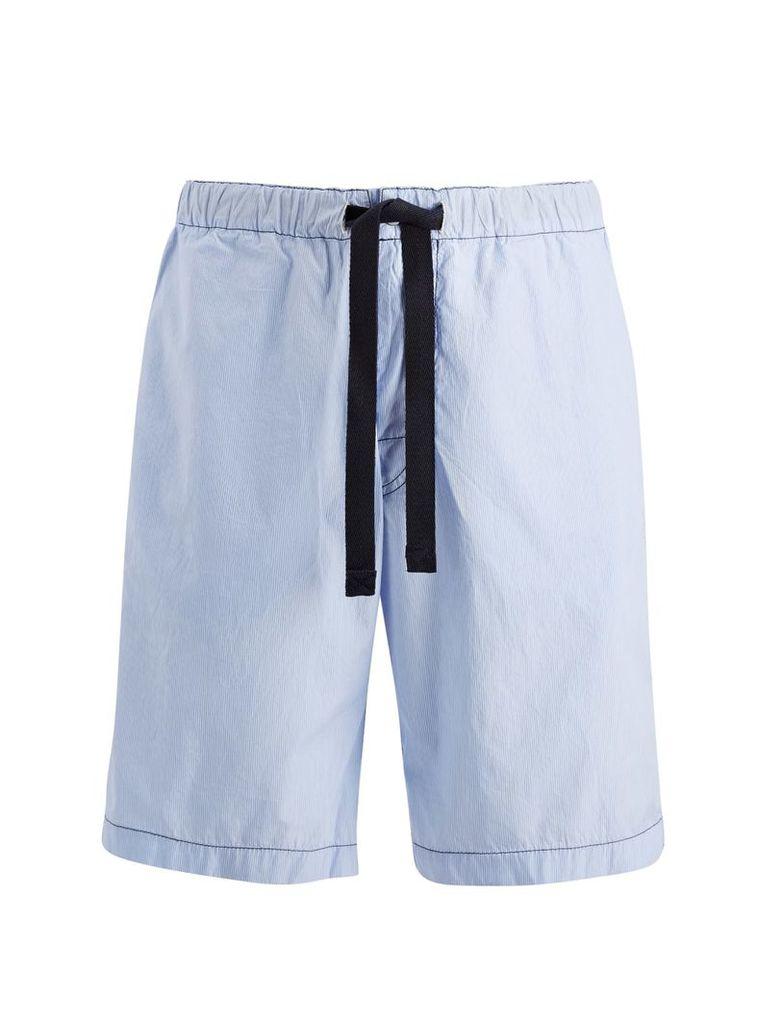 Workwear Stripes Abington Shorts in Sky Blue