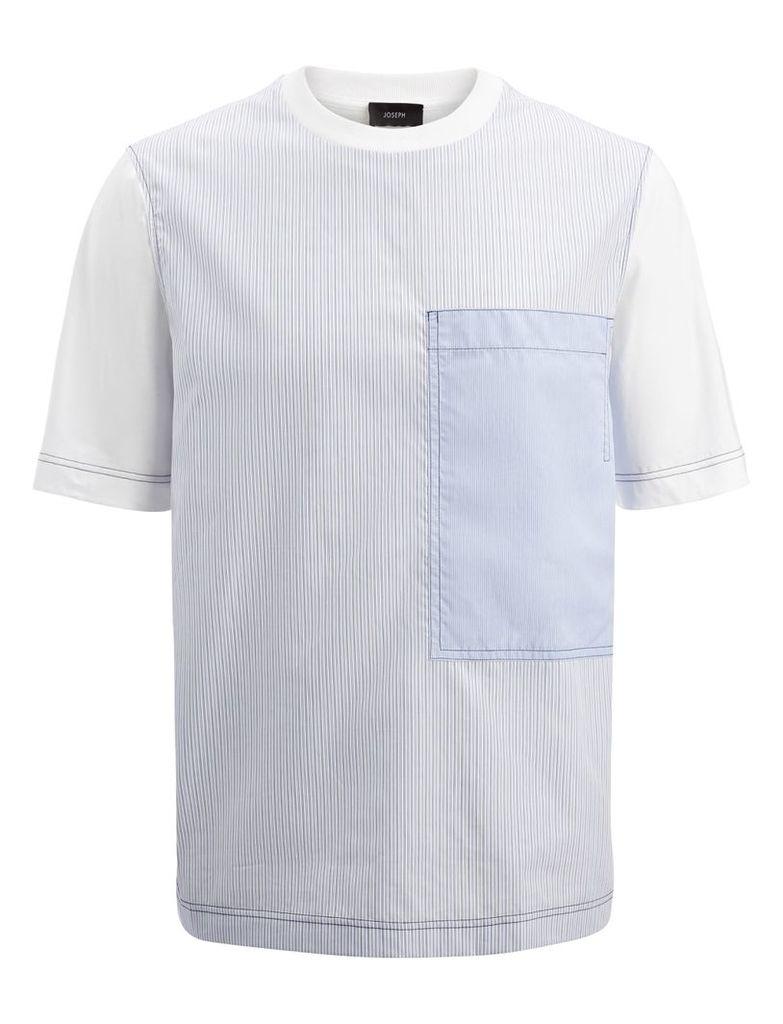 Workwear Stripe Jersey Tee in Blue
