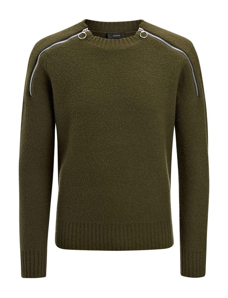 Boiled Knit Sweater in Khaki