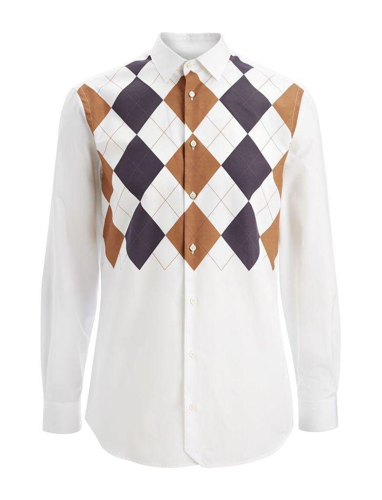 Argyle John Shirt in White