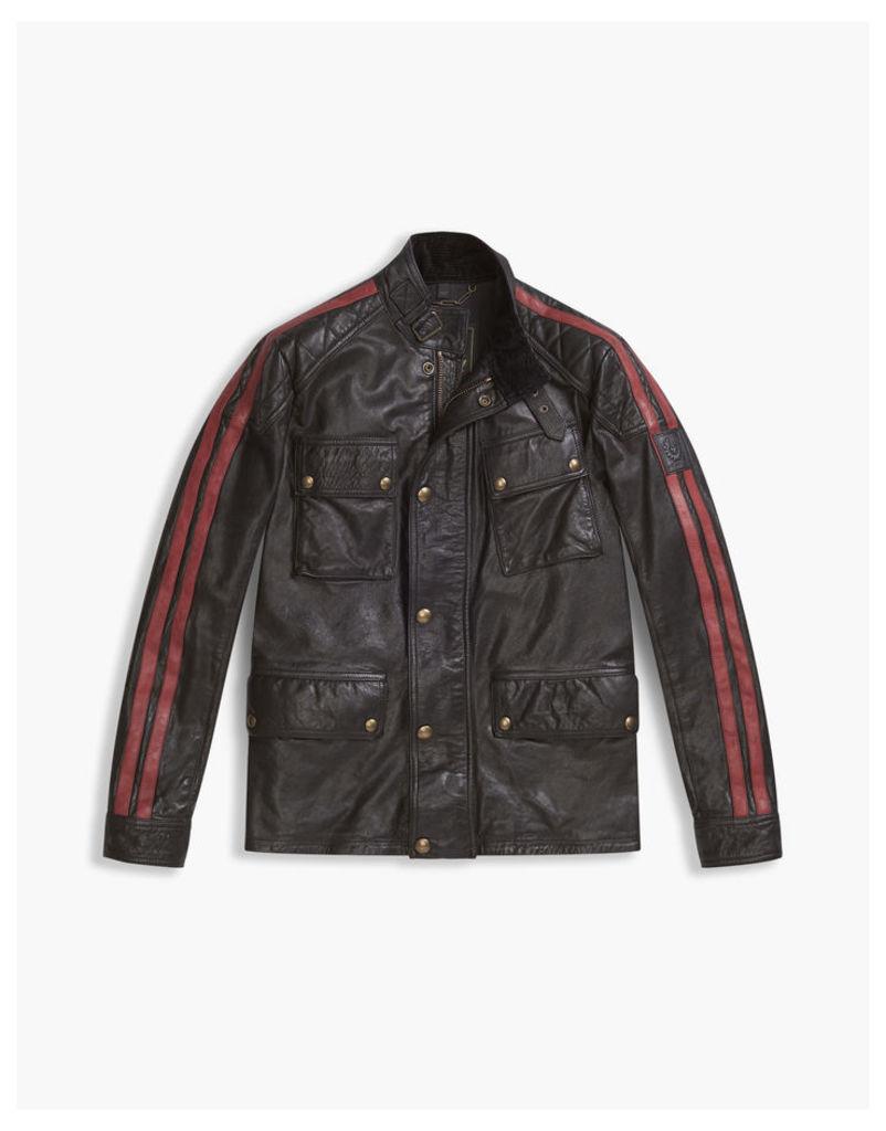 Belstaff Daytona 4-Pocket Jacket Black/Racing Red