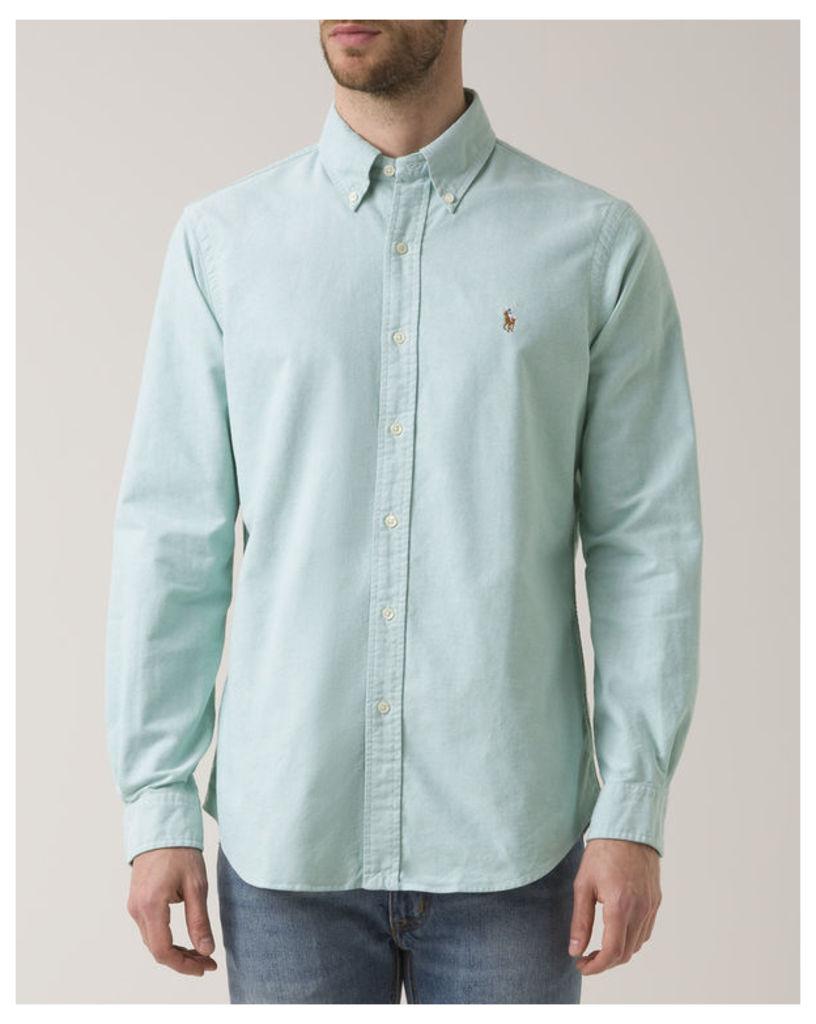 Sea Green Custom Fit Oxford Shirt