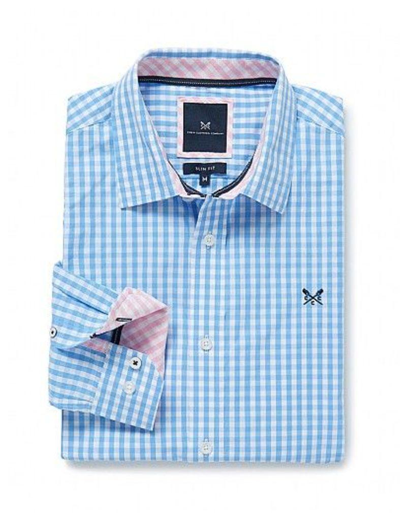 Crew Slim Fit Gingham Shirt