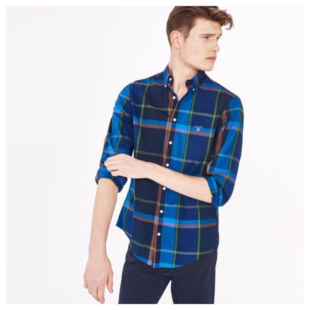 Pinpoint Shadow Plaid Shirt - Birch Green