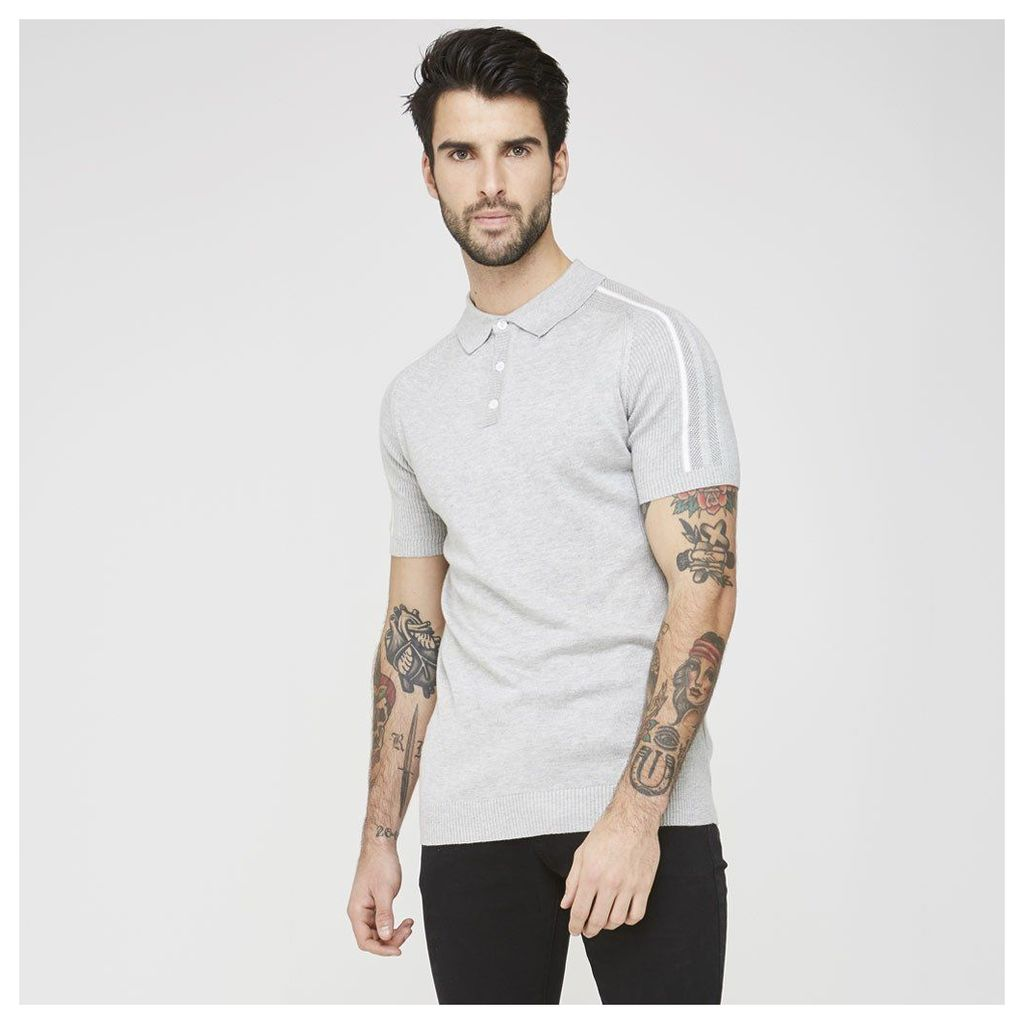 Maniere De Voir; Knitted Polo Shirt - Grey