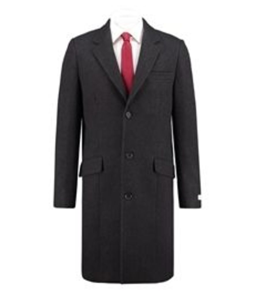 Men's Charcoal Melton Coat