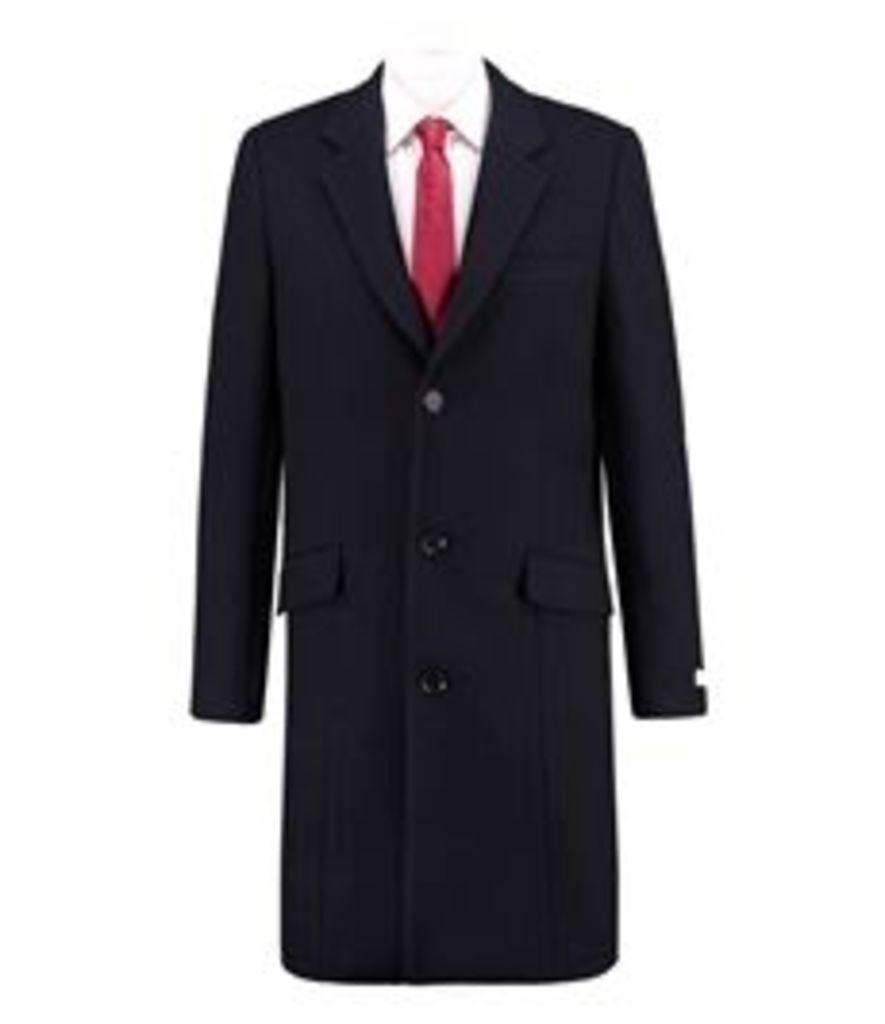 Men's Navy Melton Coat