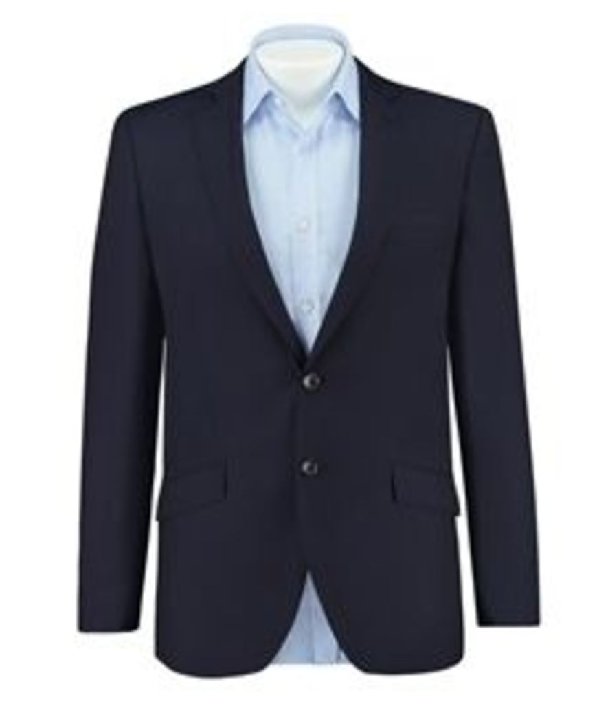 Men's Navy Classic Fit Blazer - Super 120s Wool