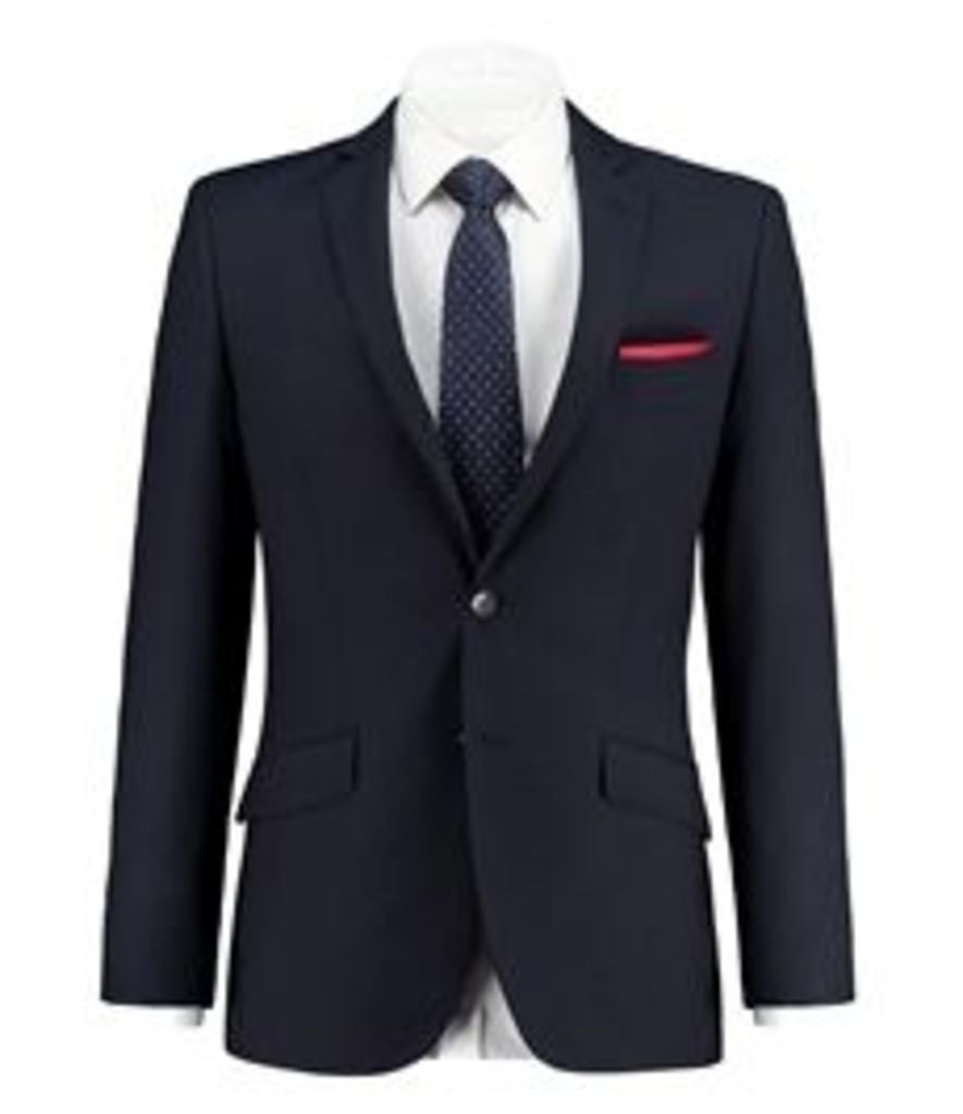 Men's Navy Slim Fit Blazer - Super 120s Wool