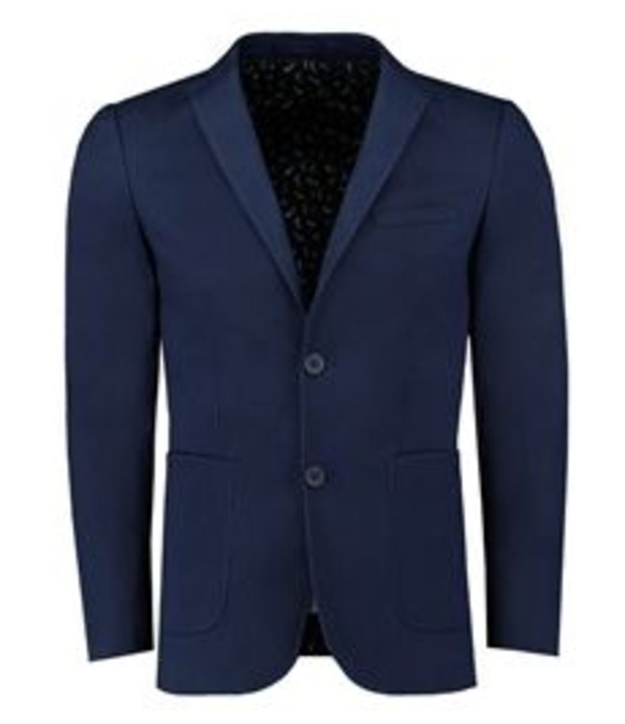 Men's Casual Navy Cotton Blazer