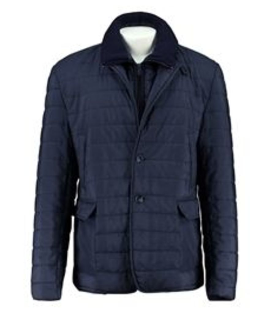 Men's Quality Blue Quilted Jacket