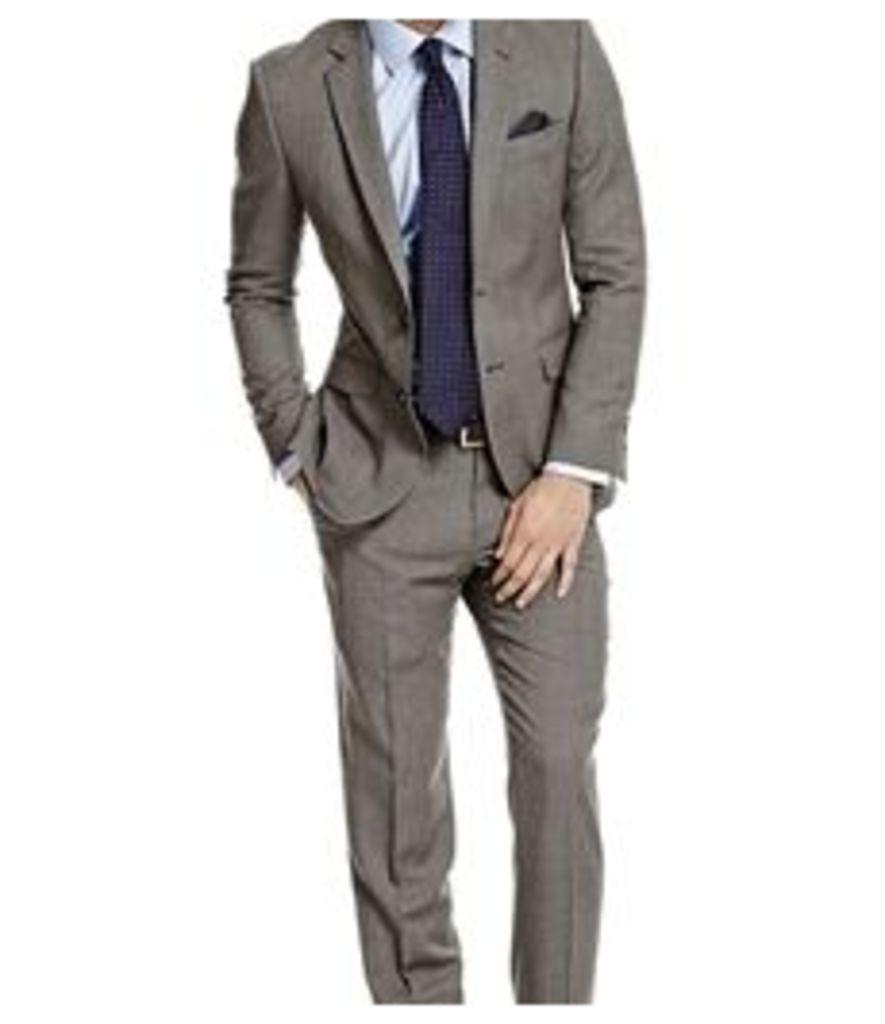 Men's Grey End On End Amalfi Classic Fit Suit - Super 120s Wool