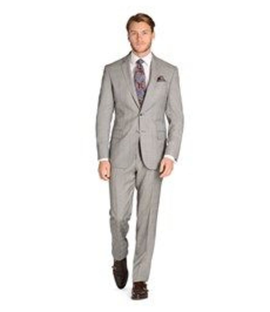 Men's Grey Prince of Wales Check 3 Piece Slim Fit Italian Suit -1913 Collection