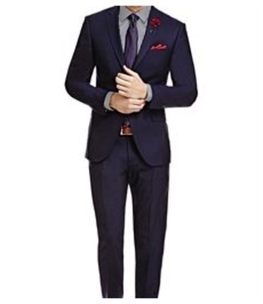 Men's Dark Navy Twill Classic Fit Suit - Super 120s Wool