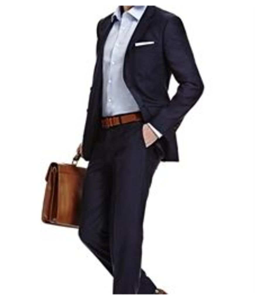 Men's Dark Navy Twill Extra Slim Fit Suit - Super 120s Wool