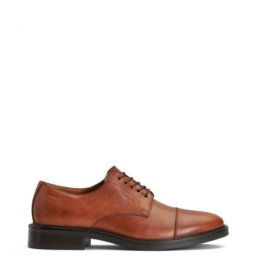 Albert Derby Shoe - Mud Brown
