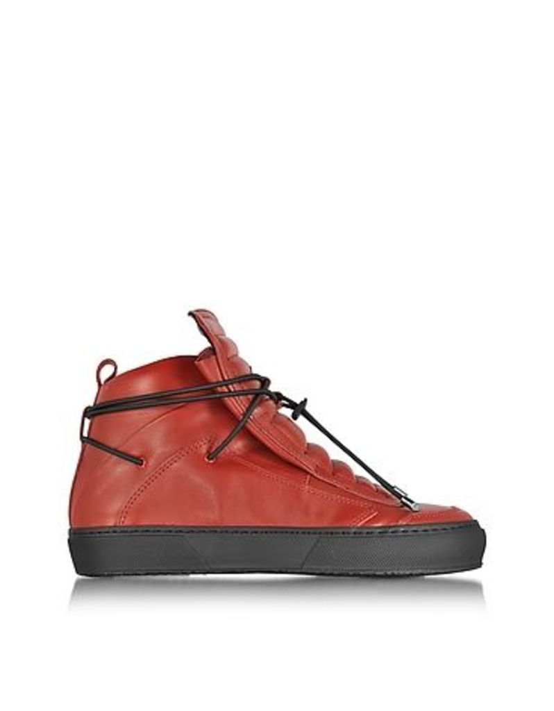 Ylati - Ulisse Red Leather High Top Sneaker