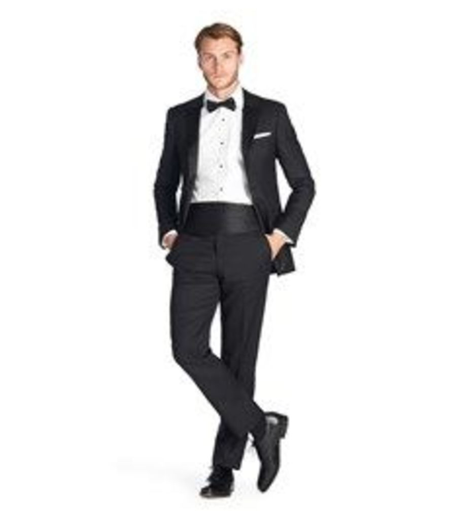 Men's Luxury Black Peak Lapel Slim Fit Dinner Suit