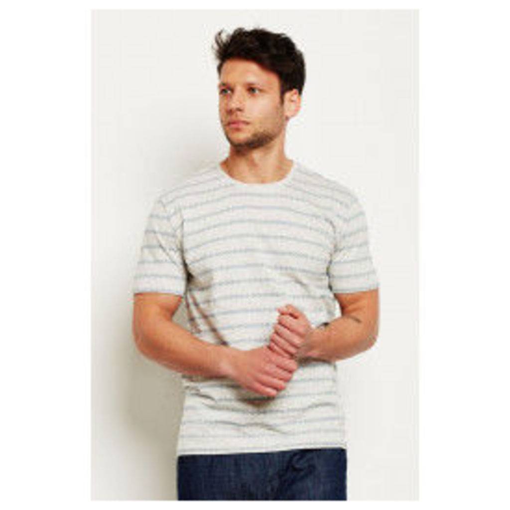 Only & Sons Mort Jacquard T-shirt - Off-White
