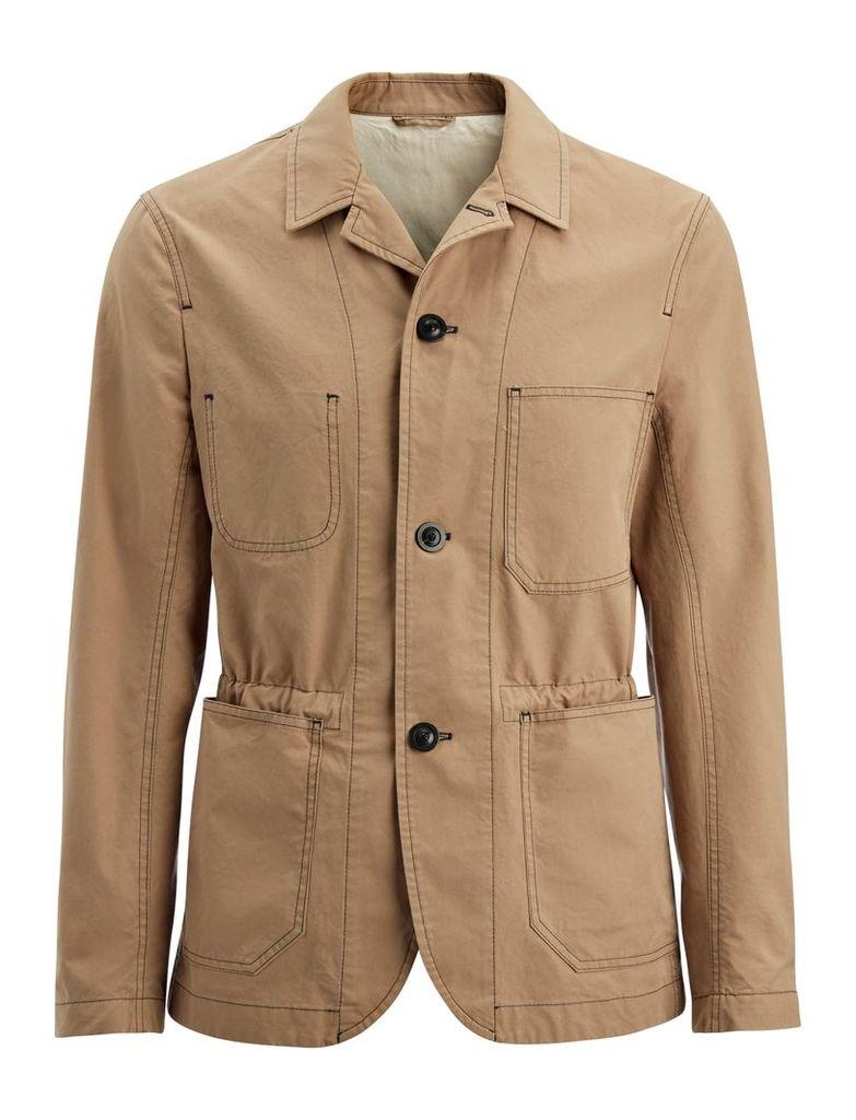 Compact Poplin Albury Jacket in Beige
