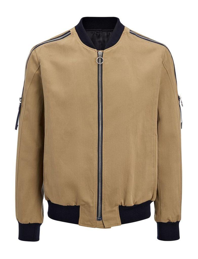 Linen Cotton Norton Jacket in Clay