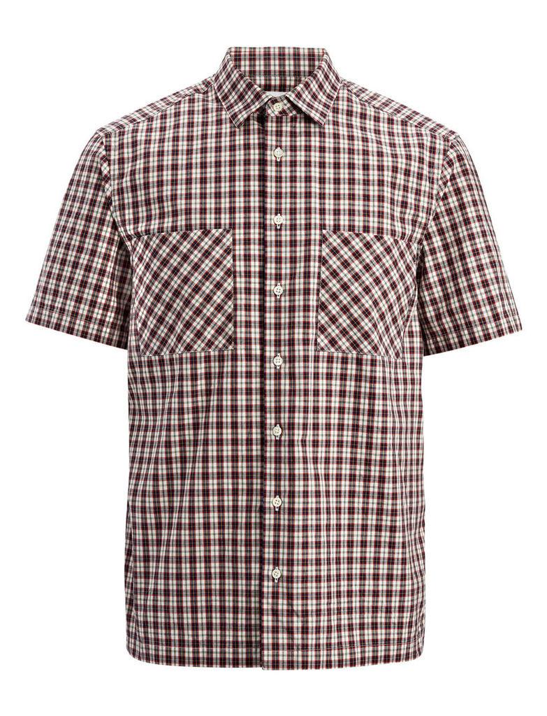 Check Shirting Colburn Shirt in White